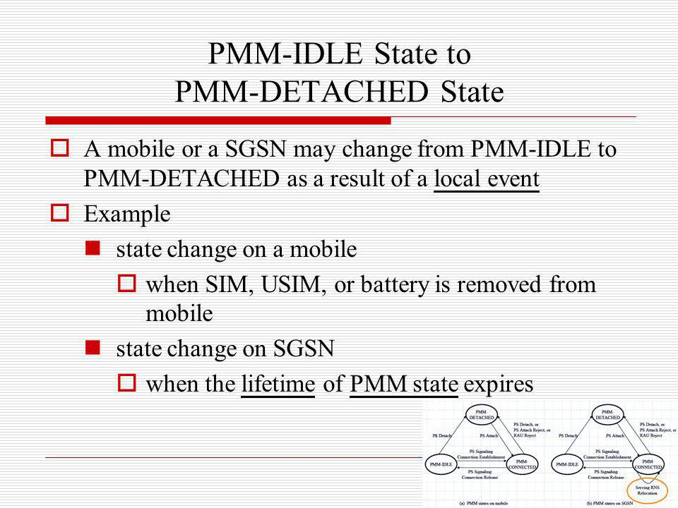 PMM-IDLE State to PMM-DETACHED State