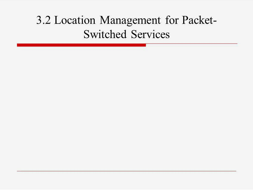 3.2 Location Management for Packet-Switched Services