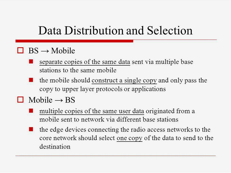 Data Distribution and Selection