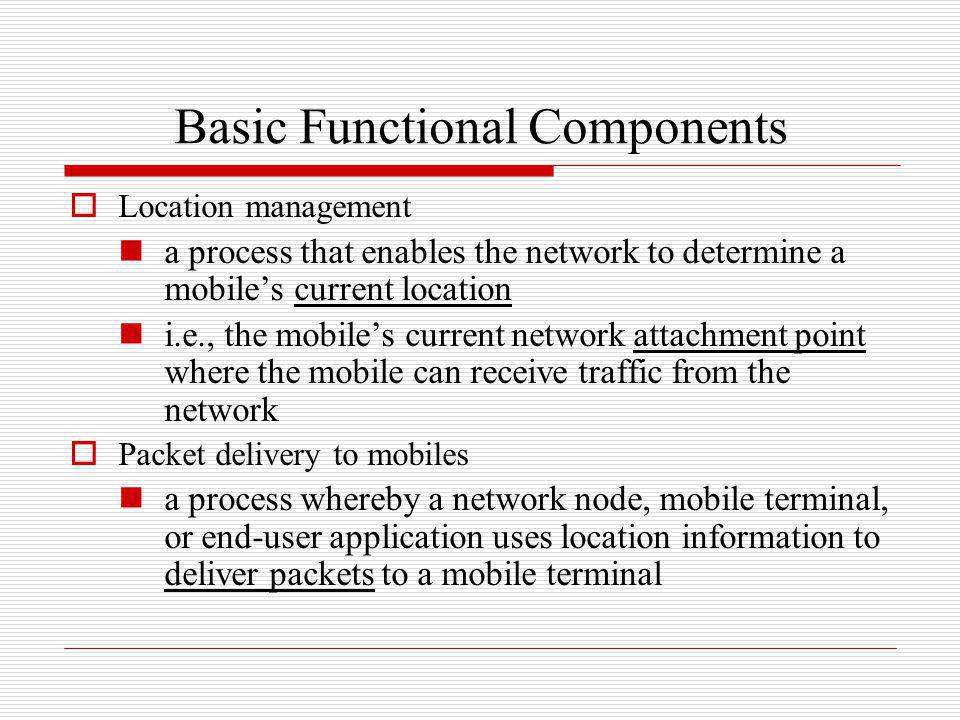 Basic Functional Components