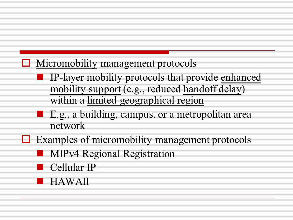 Micromobility management protocols