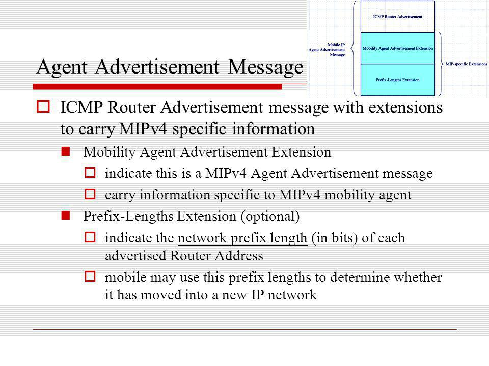 Agent Advertisement Message