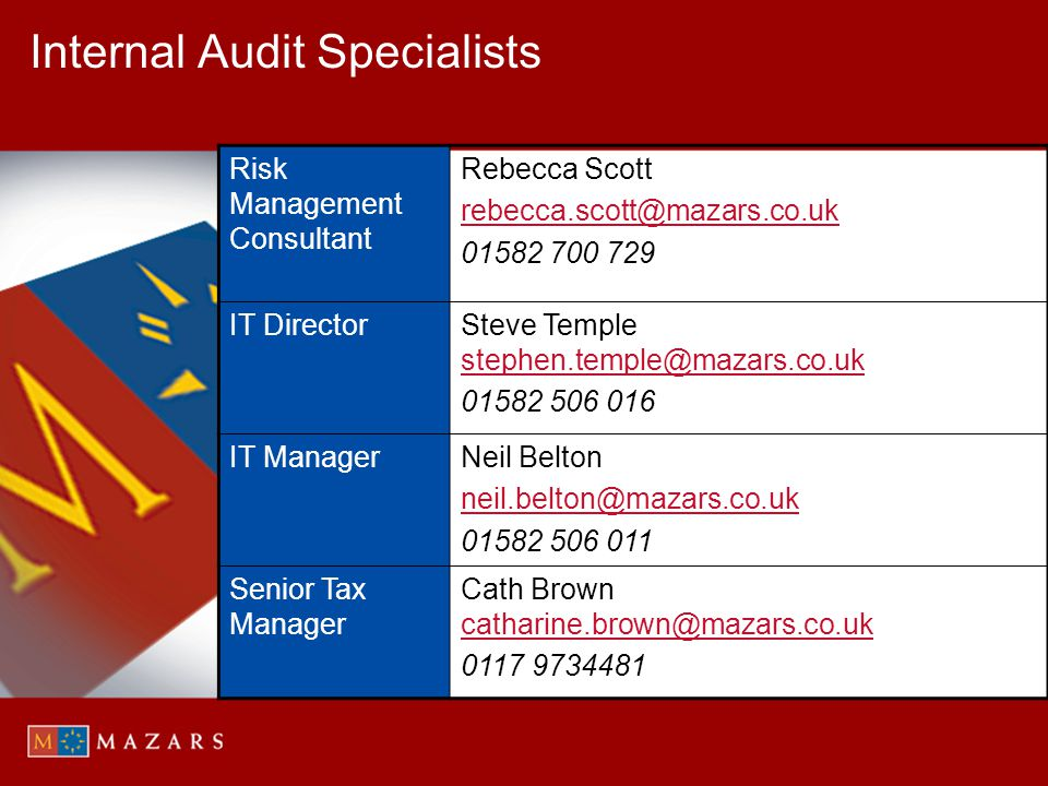 Internal Audit Specialists