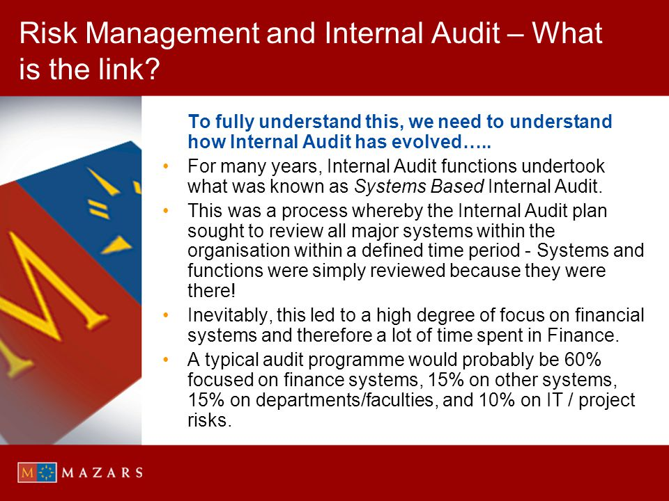 Risk Management and Internal Audit – What is the link