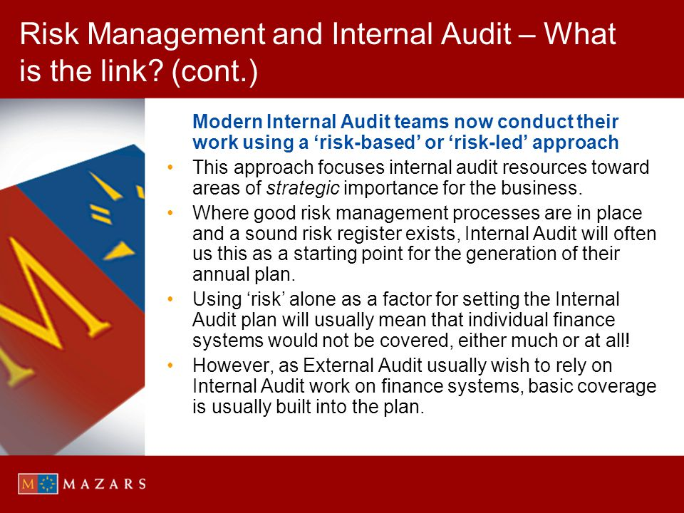 Risk Management and Internal Audit – What is the link (cont.)