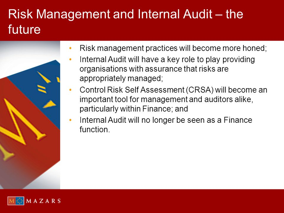 Risk Management and Internal Audit – the future