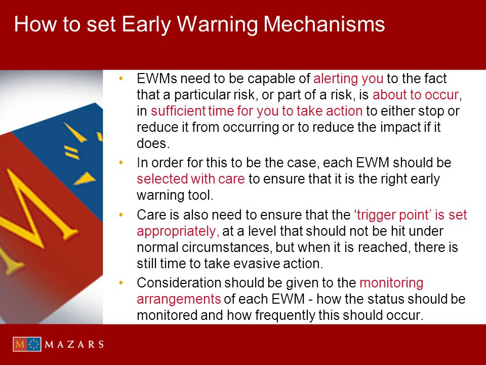 How to set Early Warning Mechanisms
