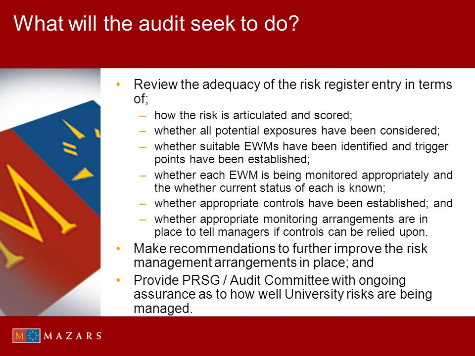 What will the audit seek to do