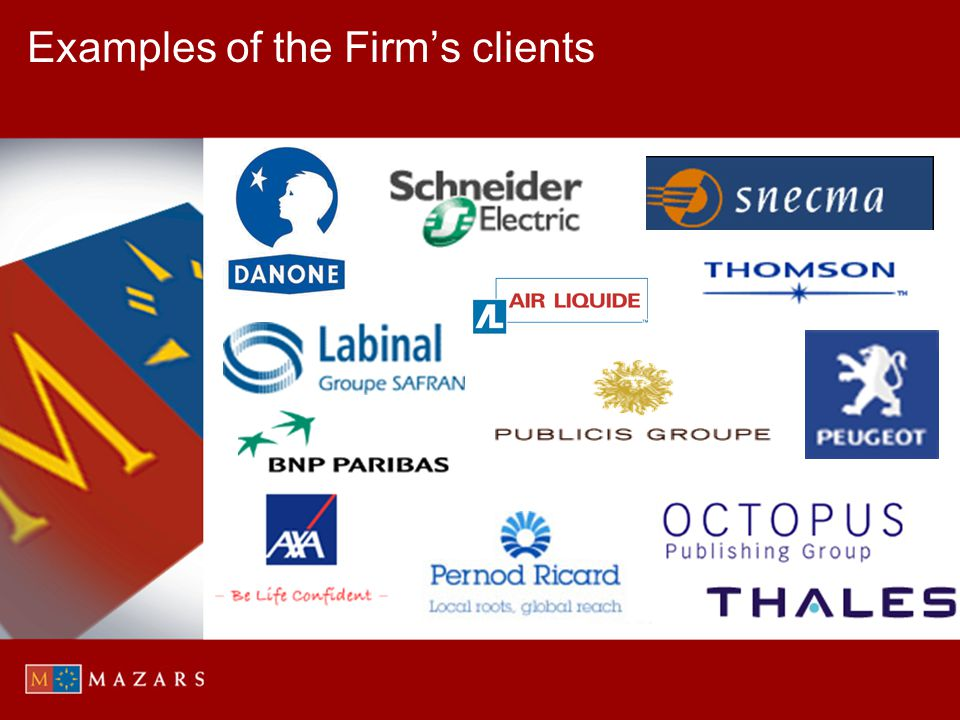 Examples of the Firm's clients