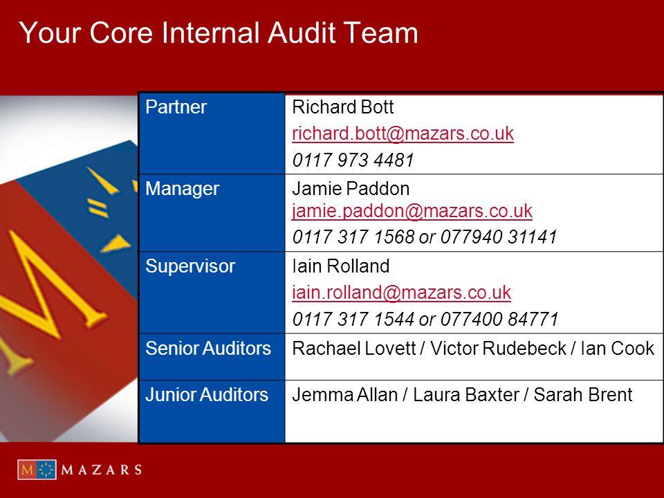 Your Core Internal Audit Team