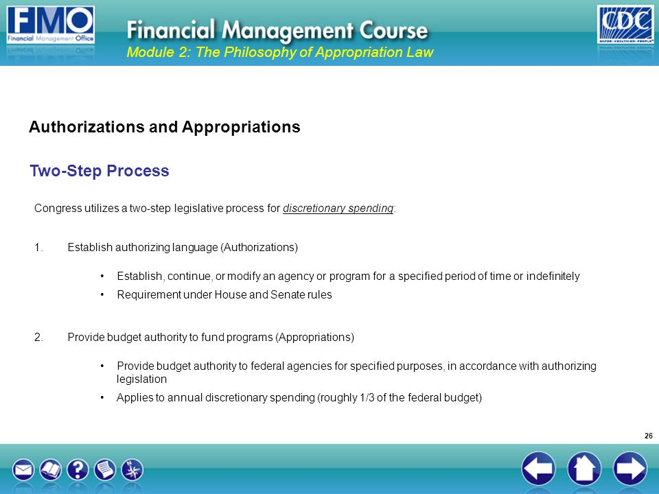 Authorizations and Appropriations