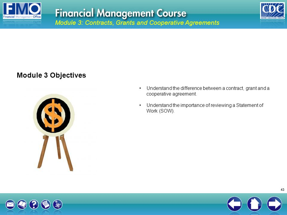 Module 3: Contracts, Grants and Cooperative Agreements