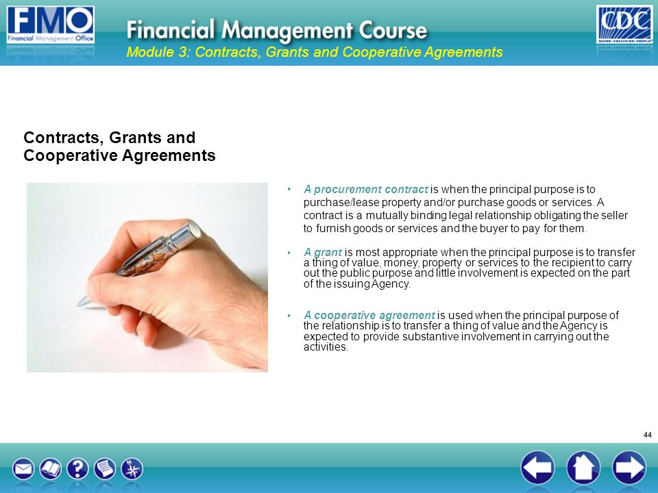 Contracts, Grants and Cooperative Agreements