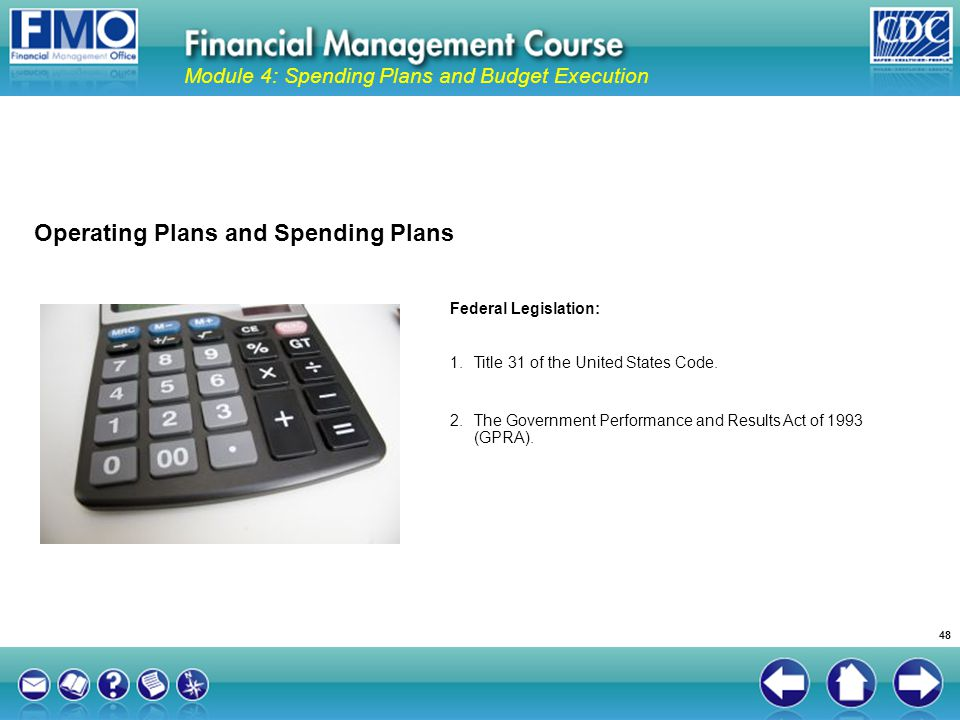 Operating Plans and Spending Plans