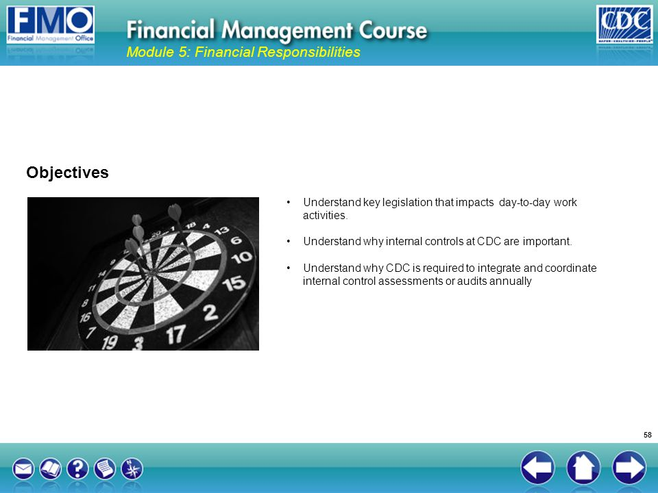 Objectives Module 5: Financial Responsibilities