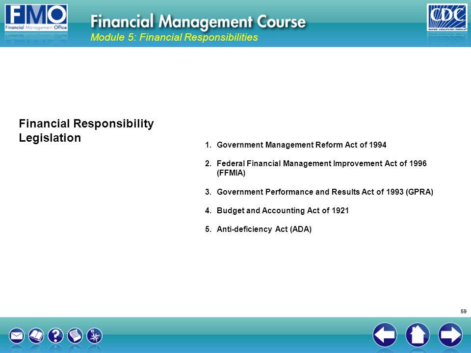 Financial Responsibility Legislation