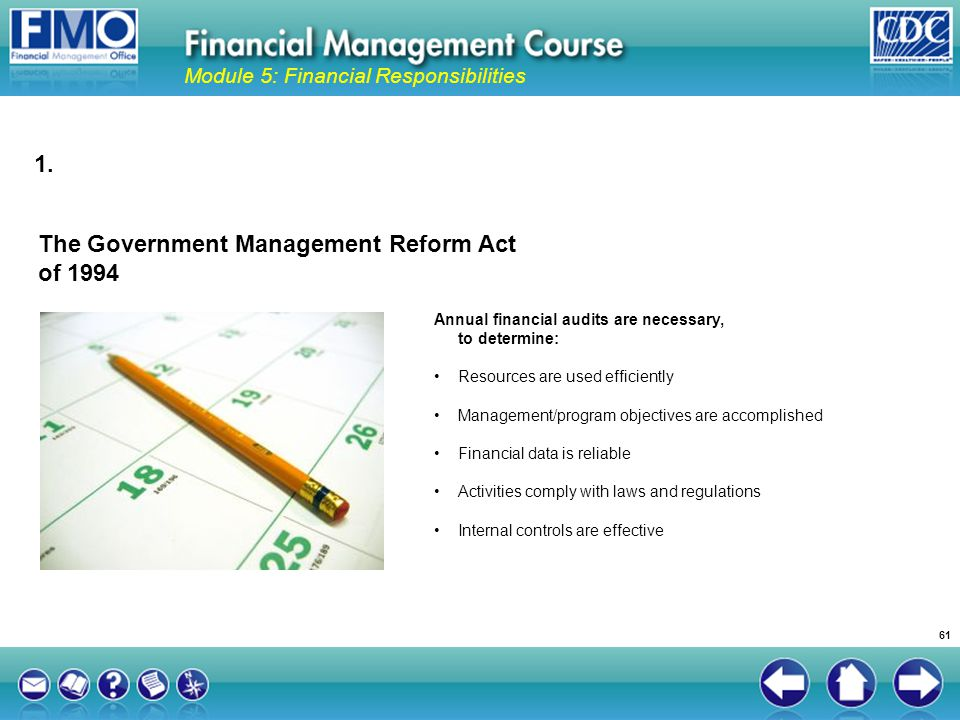 The Government Management Reform Act of 1994