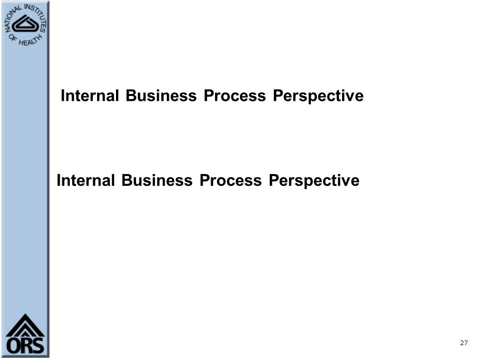 Internal Processes Perspective of the Balanced Scorecard