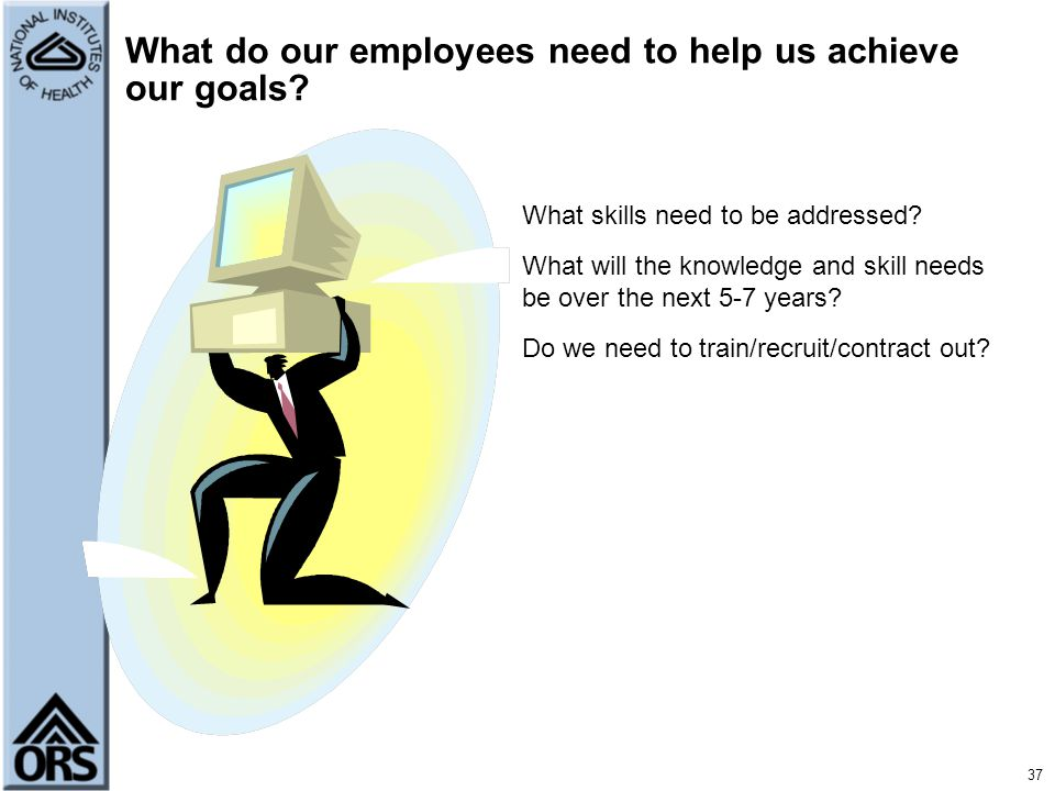 What do our employees need to help us achieve our goals