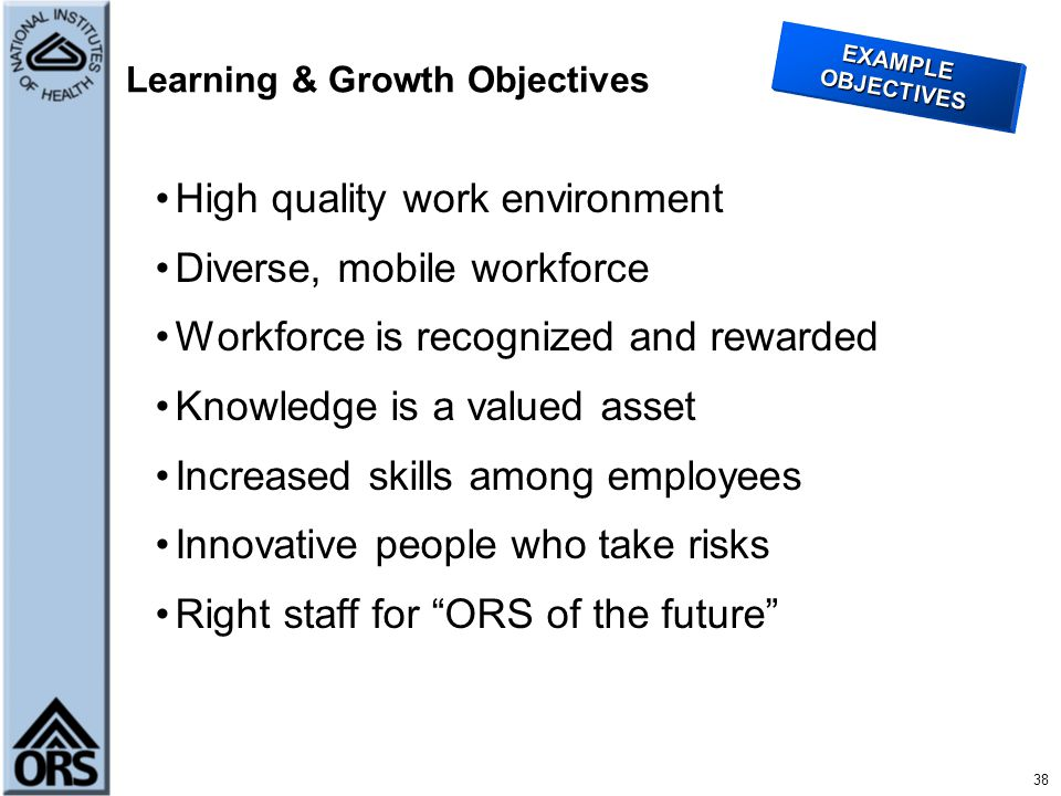 Learning & Growth Objectives