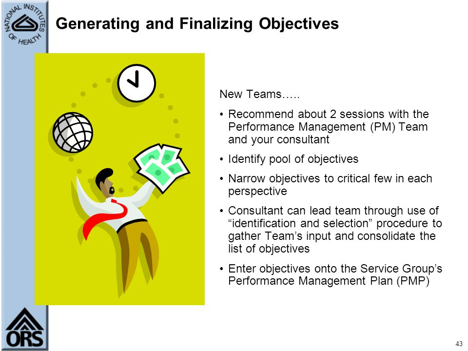 Generating and Finalizing Objectives
