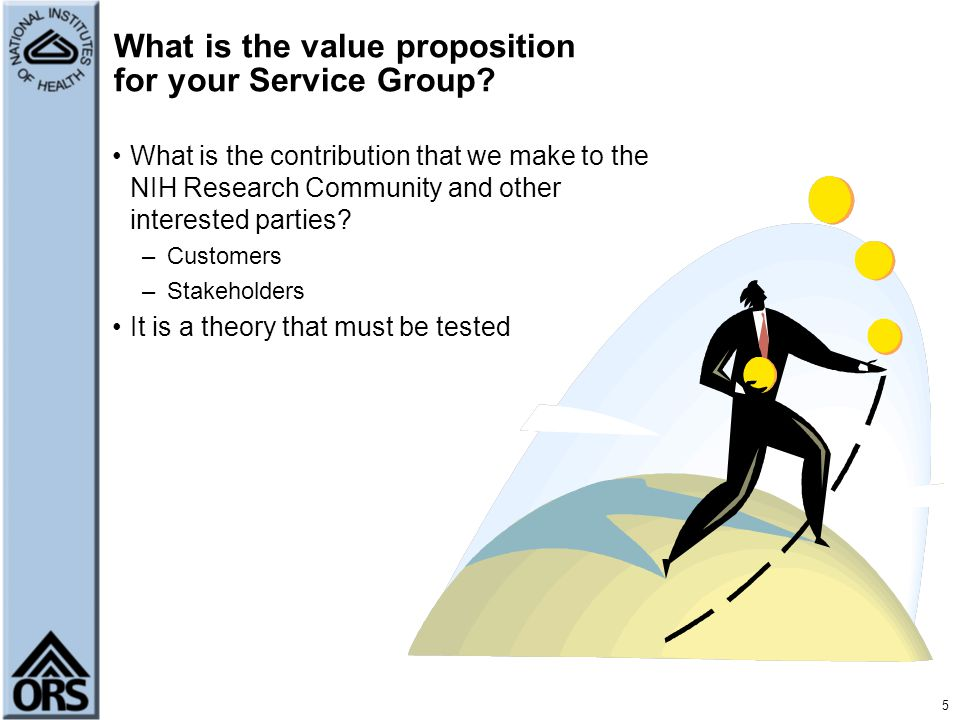 What is the value proposition for your Service Group
