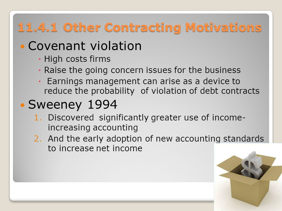 11.4.1 Other Contracting Motivations