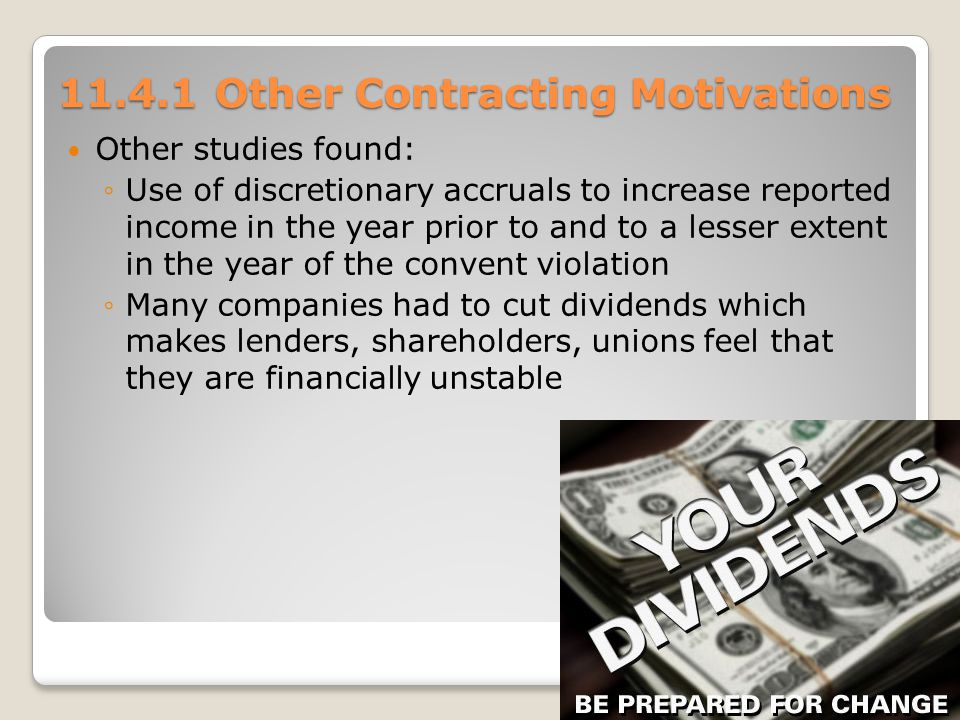 Other Contracting Motivations