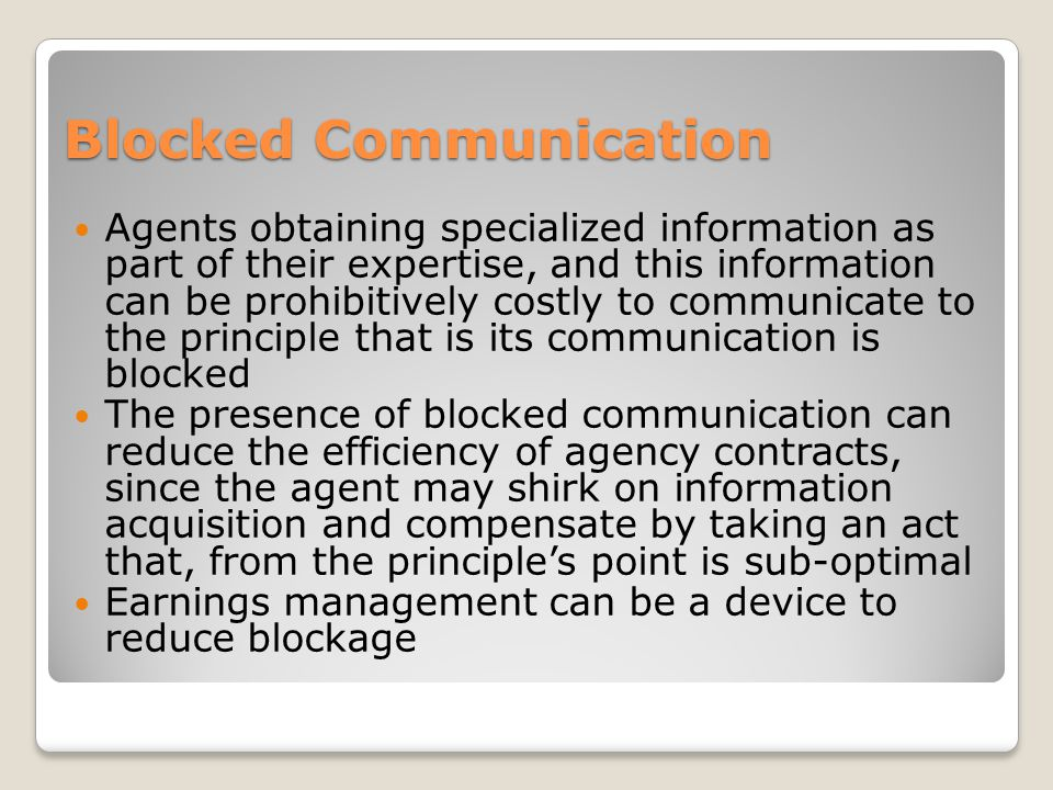 Blocked Communication