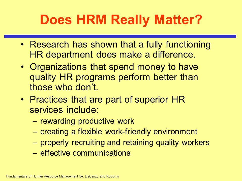 Fundamentals of Human Resource Management 8e, DeCenzo and Robbins