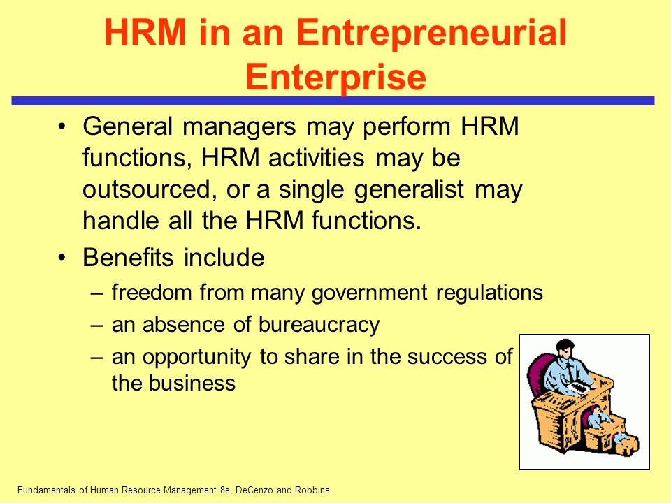 HRM in an Entrepreneurial Enterprise