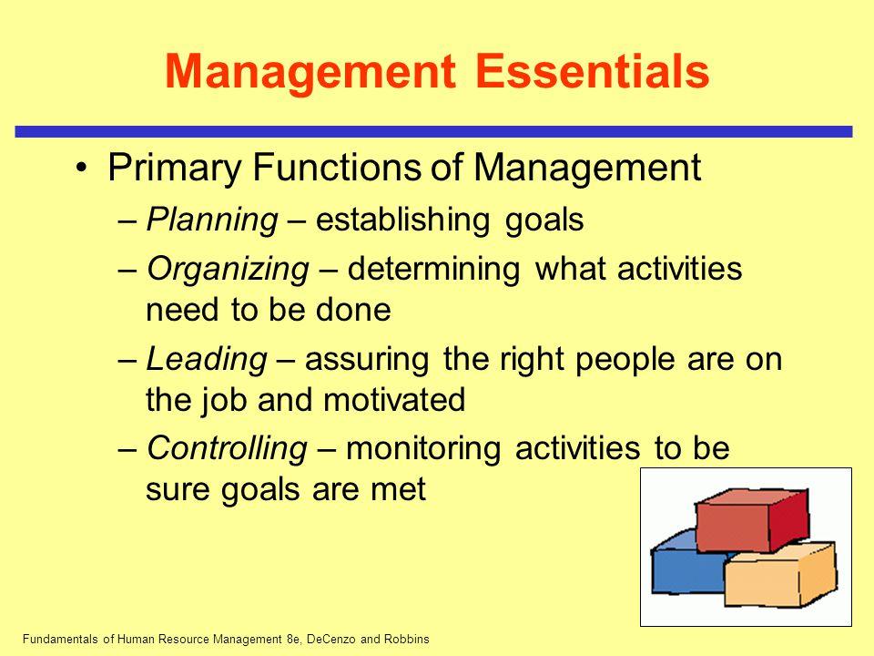 Management Essentials