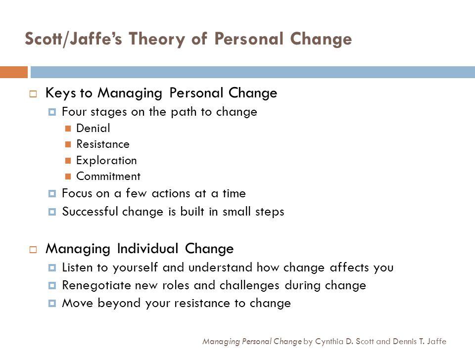 Scott/Jaffe's Theory of Personal Change