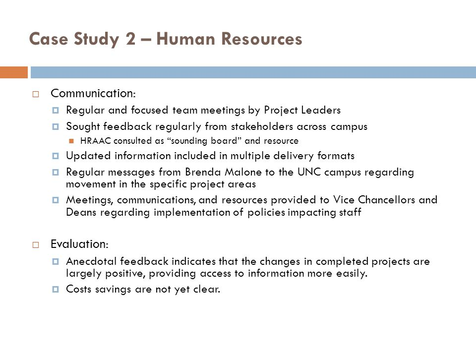 Case Study 2 – Human Resources