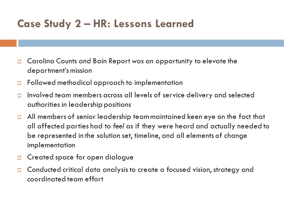it and hr department case study and analysis 2 This article aims to show through a case study analysis how a uk company has adopted policies that in practice appear to signify a move towards hrm techniques the analysis discusses first the industrial setting that encourages the flourishing of hrm second, organisational changes at corporate and company level third, a model of hrm fourth, the practice of hrm in a case study, using a goal.
