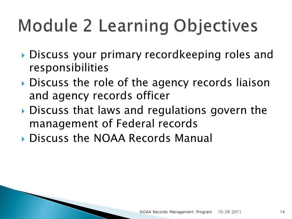 Module 2 Learning Objectives