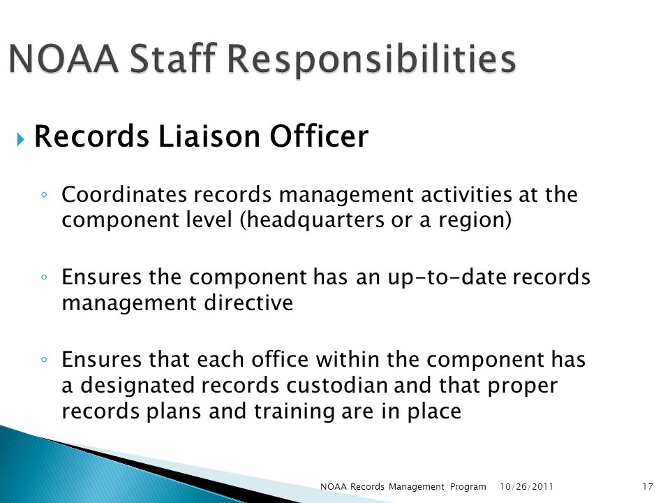 Records Management Training for National Oceanic and Atmospheric ...