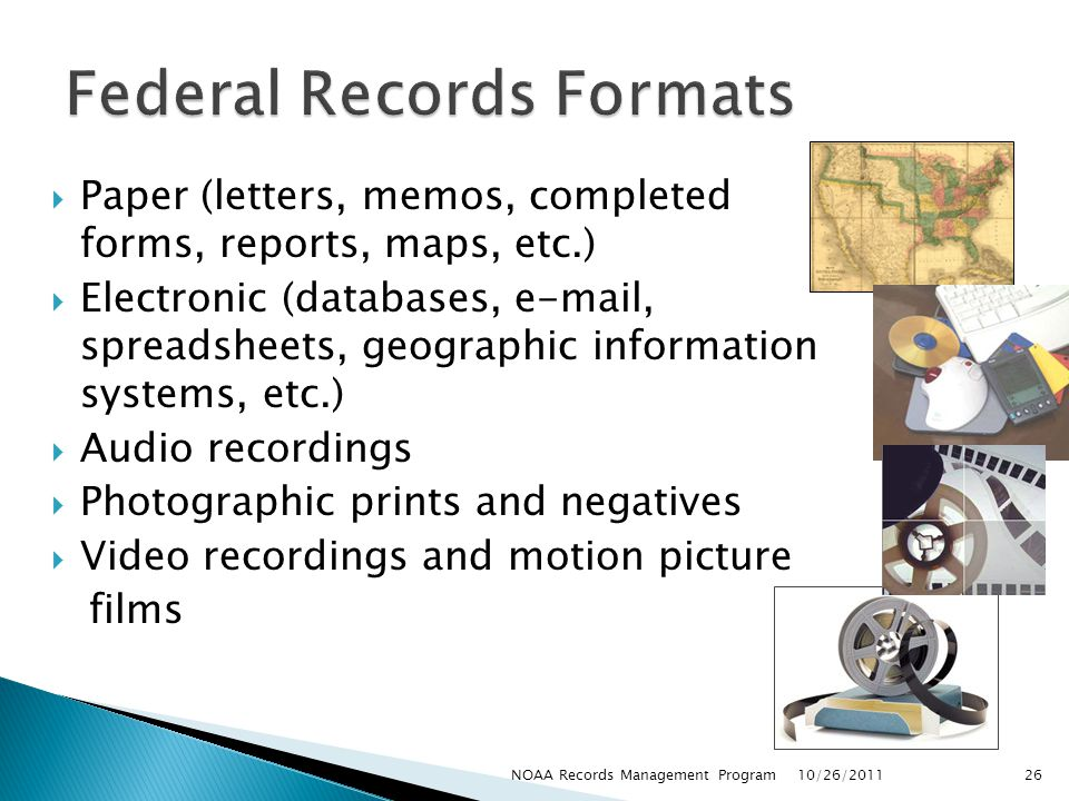Federal Records Formats