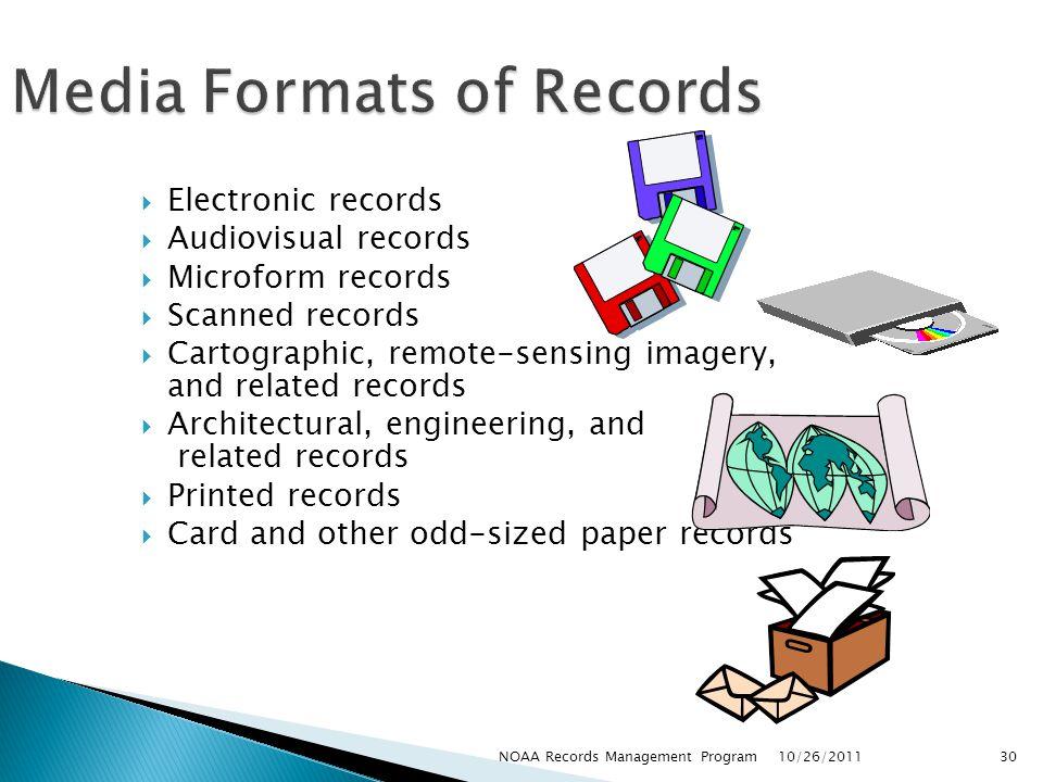 Media Formats of Records