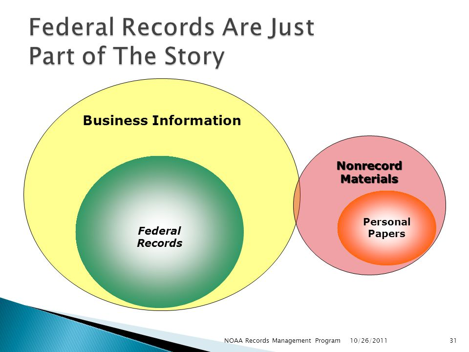 Federal Records Are Just Part of The Story