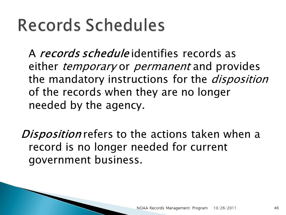 Records Schedules