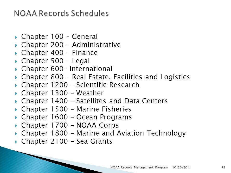 NOAA Records Schedules