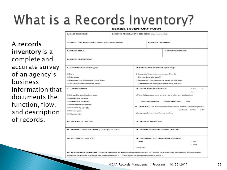 What is a Records Inventory