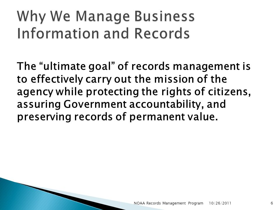 Why We Manage Business Information and Records
