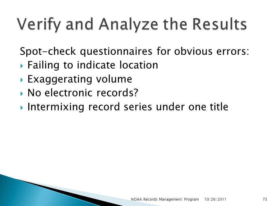 Verify and Analyze the Results