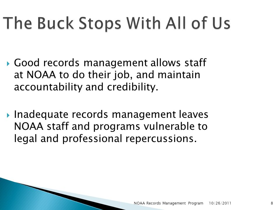 The Buck Stops With All of Us