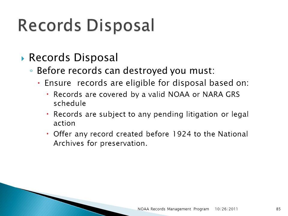 Records Disposal Records Disposal