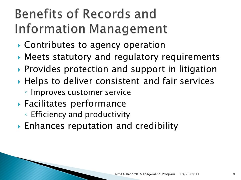 Benefits of Records and Information Management