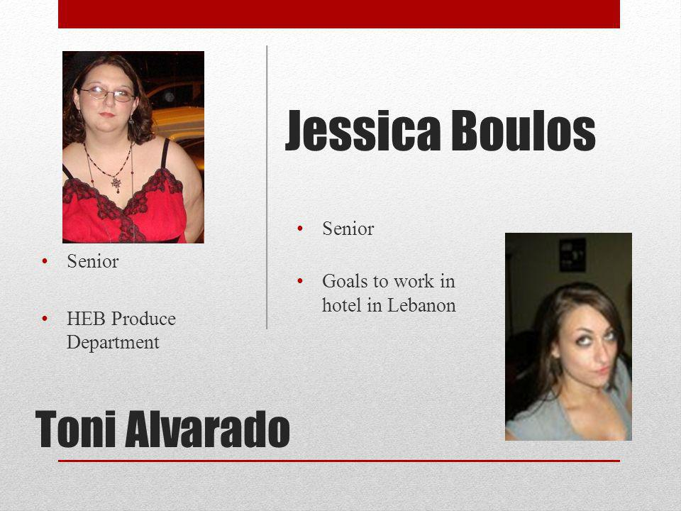 Jessica Boulos Toni Alvarado Senior Goals to work in hotel in Lebanon
