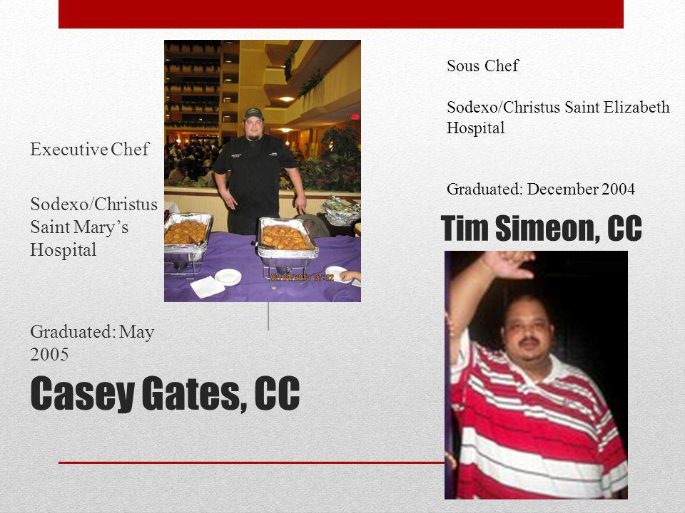 Casey Gates, CC Tim Simeon, CC Executive Chef